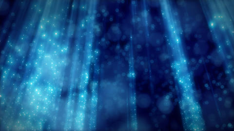 blue loopable background flying particles in light Animation