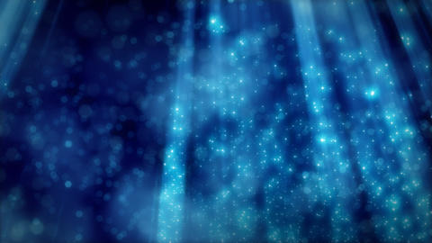 blue loopable background flying particles in light Stock Video Footage