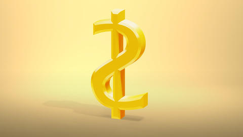 dollar sign become rusty then crumble to dust 3d Stock Video Footage