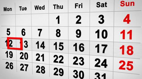 lapse of time calendar 3d Stock Video Footage