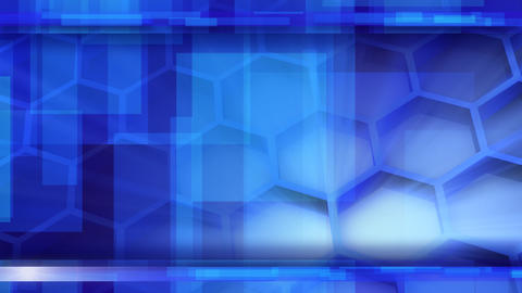 Looping Blue Glossy High-tech Background stock footage