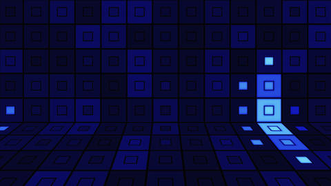 beaming blue squares disco loopable background Stock Video Footage
