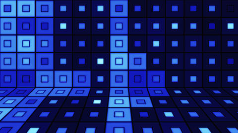 beaming blue squares disco loopable background Animation