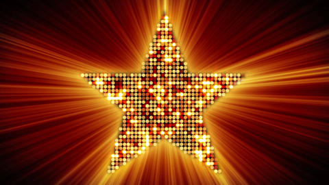 shining star shape of orange particles loopable Stock Video Footage