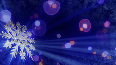 rotating snowflake and lights seamless loop backgr Stock Video Footage