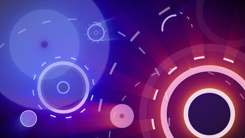 red blue circles and dashed lines seamless loop ba Stock Video Footage