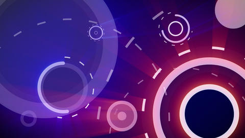 red blue circles and dashed lines seamless loop ba Animation