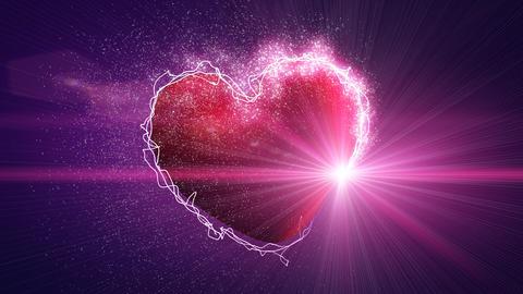 shiny heart shape and illuminant seamless loop Animation
