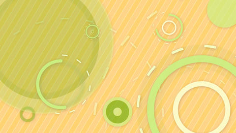 green orange circles and lines seamless loop backg Animation