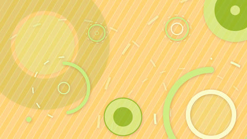green orange circles and lines seamless loop backg Stock Video Footage