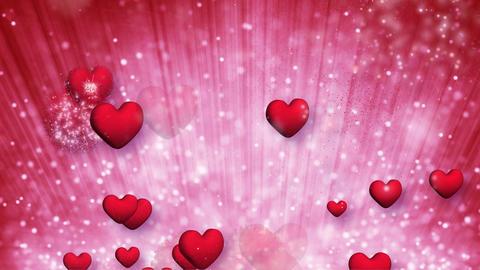 explosive red hearts bursting loop Stock Video Footage
