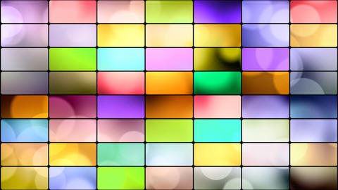 round lights in multicoloured rectangles loop back Animation