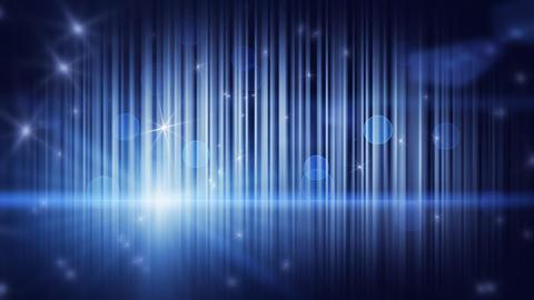 stars lights and vertical stripes blue loop backgr Stock Video Footage