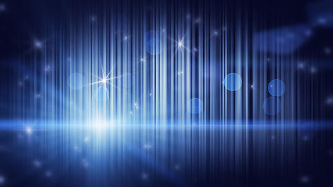 stars lights and vertical stripes blue loop backgr Animation