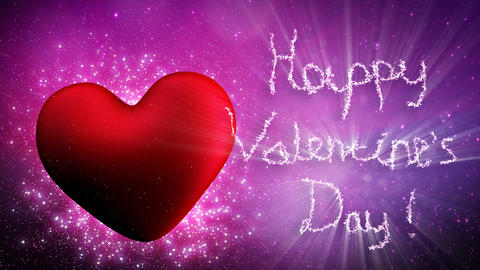 happy valentines day greetings loopable Animation