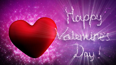 happy valentines day greetings loopable Stock Video Footage