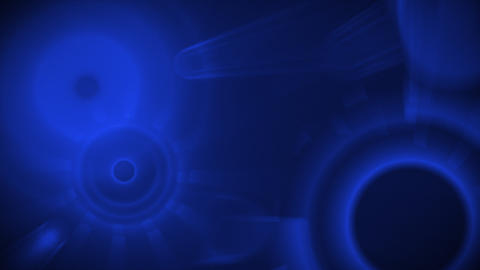 blue shiny circles seamless loop background Stock Video Footage