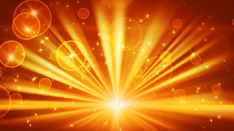lights and shining stars gold loop background Stock Video Footage