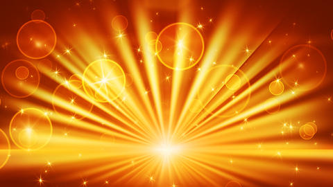 lights and shining stars gold loop background Animation