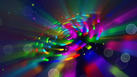 multicoloured shiny circles and particles loop Stock Video Footage