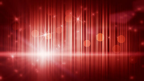 stars lights and vertical stripes red loop backgro Animation