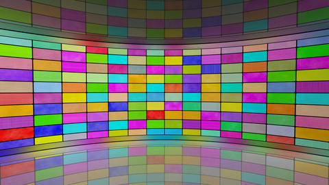 multicoloured screens in virtual studio loop Animation