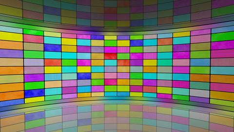 multicoloured screens in virtual studio loop Stock Video Footage