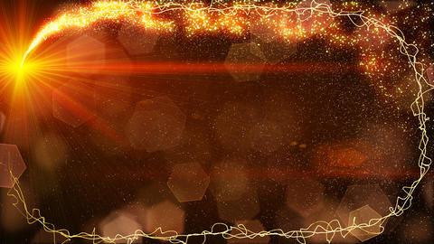 sparkles lights fairy dust frame loop Stock Video Footage