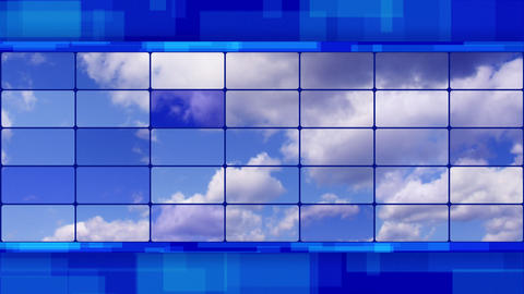 clouds on screens blue loopable background Stock Video Footage