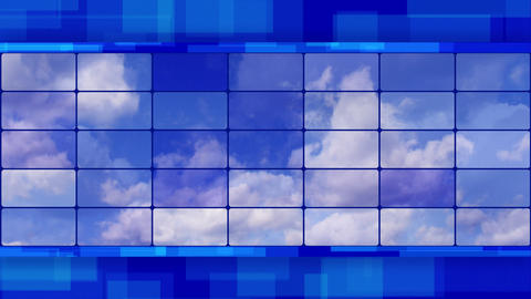 clouds on screens blue loopable background Animation