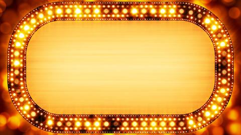 golden casino neon banner loopable Stock Video Footage