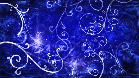 blue flourishes loop background Stock Video Footage