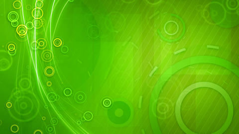 green circles and lines seamless loop background Animation