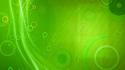 green circles and lines seamless loop background Stock Video Footage