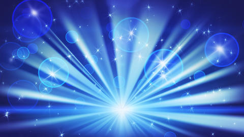 lights and shining stars blue loop background Stock Video Footage