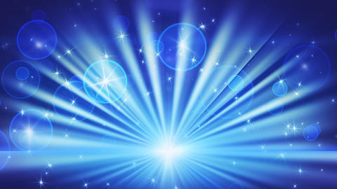 lights and shining stars blue loop background Animation