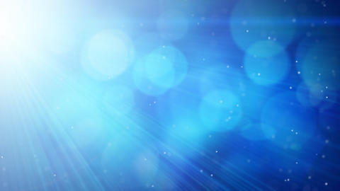 blue abstract background light beams and particles Stock Video Footage