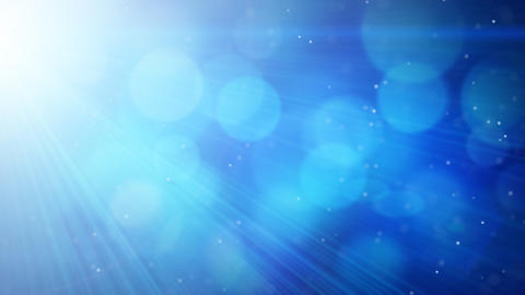 blue abstract background light beams and particles Animation