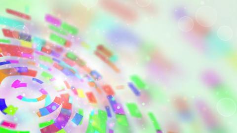 multicolored circular segments rotate loop Stock Video Footage