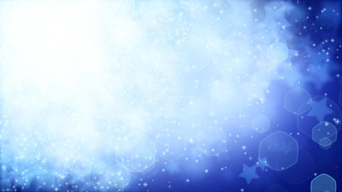 stars on blue background loop Stock Video Footage
