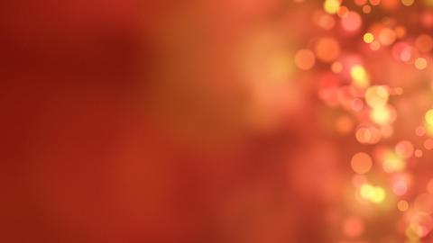 loopable abstract background red bokeh circles Stock Video Footage