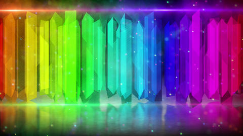 rainbow color elements abstract loopable backgroun Stock Video Footage