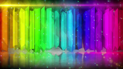 rainbow color elements abstract loopable backgroun Animation