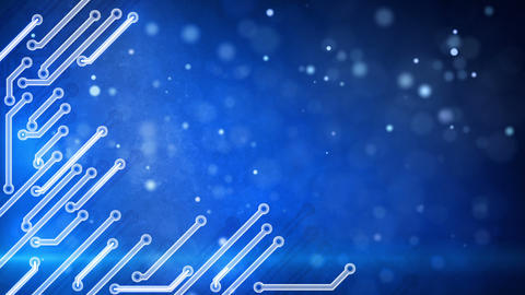 blue circuit board hi-tech loop background Animation