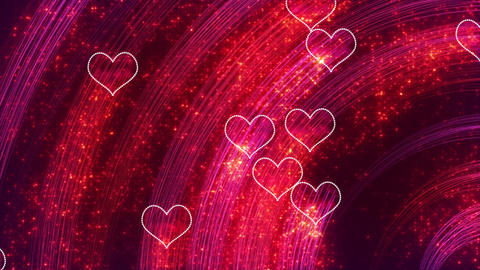 heart shapes loopable romantic background Stock Video Footage