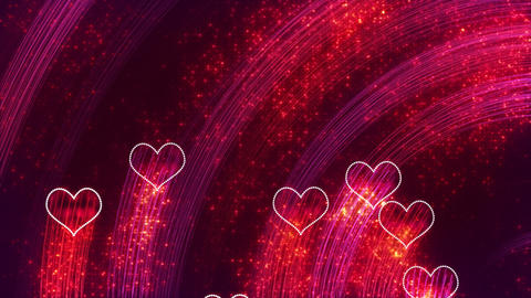 heart shapes loopable romantic background Animation