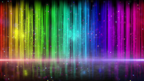rainbow color stripes abstract loopable background Stock Video Footage