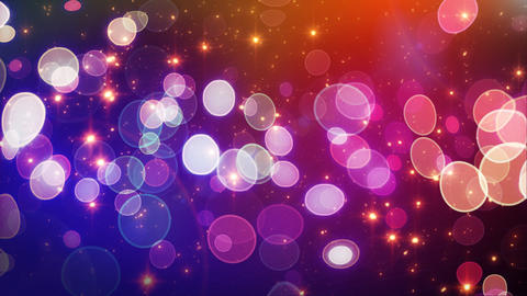 red blue circle bokeh lights and sparkles loop Animation