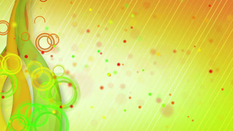 particles lines orange green loop background Animation