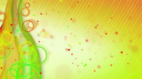 particles lines orange green loop background Stock Video Footage